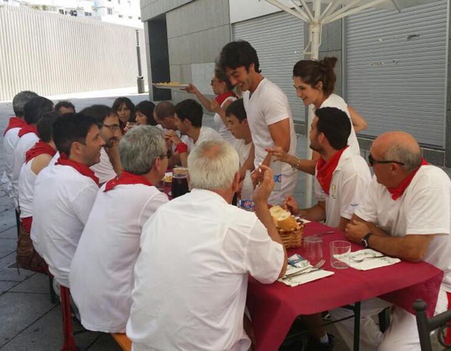 Comer en San Fermín en Pamplona