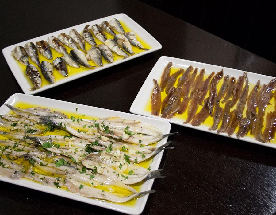 Comer anchoas y boquerones en Pamplona