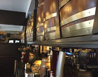 La barra del Bar bodegas Leyre